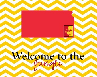 "This Pitt State ""Welcome to the Jungle"" print is a number one seller! It's fun and colorful!"
