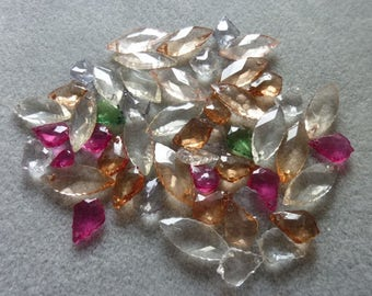 Grab Bag, Random Assortment of Goodies, Beads, Acrylic - 48pcs