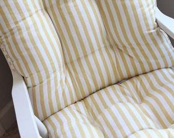 Custom Chair Cushions/ Glider Cushions/ Rocking Chair Cushions/ Glider Replacement Cushions  RESERVED for Beverley Hayes