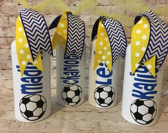 Personalized Soccer Water Bottle - Team Gifts - Soccer Party - Soccer Ball - Sports Team Gifts - Soccer Team - Party Favors