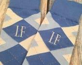 Groom Socks - Carolina Blue - Light Blue - Mens Monogram Socks - Wedding Socks -Groomsmen Gift - Grooms Gift - Groomsmen Socks