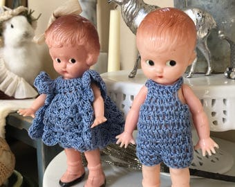 Vintage Knickerbocker Brother and Sister Doll