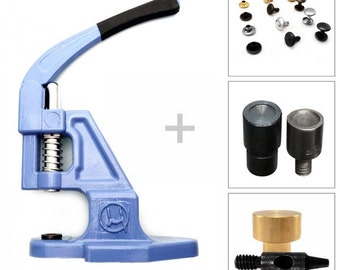 Starter set - double cap rivets - hand press, tool and initial supplies, S027