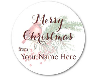 Custom Christmas Stickers, Christmas Seals, Christmas Labels - Made to Order