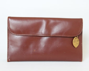 Vintage Brown Leather R. Appel Clutch Purse