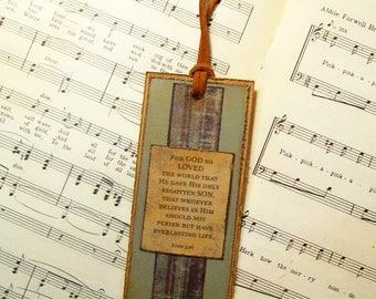 Bookmarks for Men, Christian Faith Bookmark, John 3:16 Bookmark, Paper Bookmark, Christian Gift Bookmark, For GOD So Loved the World...