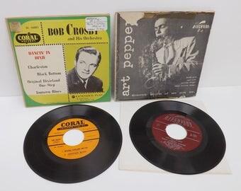 Vintage Records Bob Crosby Art Pepper Quartette Jazz Dixieland Blues West Coast Jazz