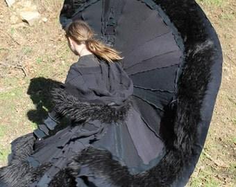 Custom order!!!  Gothic Dark City Patchwork  Pandoras Kloset  Upcycled Sweater Coat