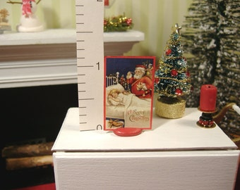 Miniature Christmas Paper Cut-Out 1:12 Scale