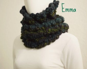 Knitting PATTERN Cowl Over-The-Head Snood Neck Warmer Chunky Merino Thick and Thin Handspun Yarn