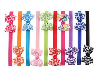 Pick 10 bows headband baby- bow headband - girl headband - infant headband - headband bow, girl baby, girl hair bows headbands
