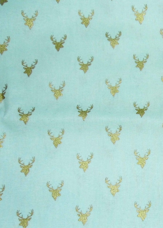 Deer fabric nursery fabric baby fabric blue for Nursery fabric sale