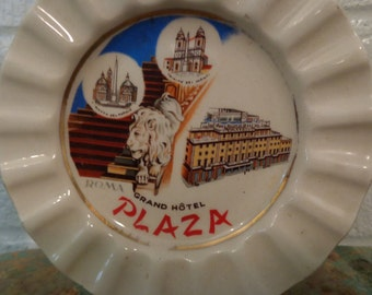 Vintage Ash tray from Grand Hotel in Roma