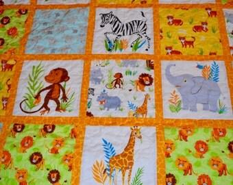 NEW - Baby Animal Safari Toddler/Baby quilt