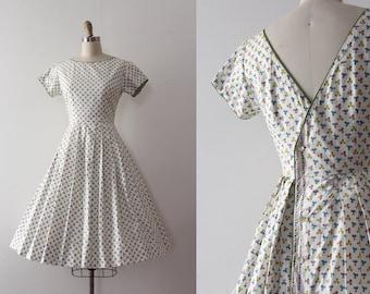 vintage 1950s dress // 50s floral day dress