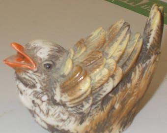 Dipinto Mano Bird Figurine Made in Italy Cute Bird Figurine Hand Painted vintage