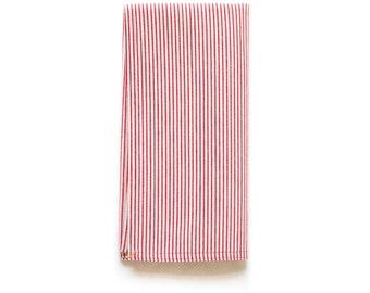 Red Pinstripe Shop Towel