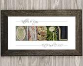 Wedding Gift, Last Name Sign, Framed Alphabet Photography, Personalized Wedding Gift