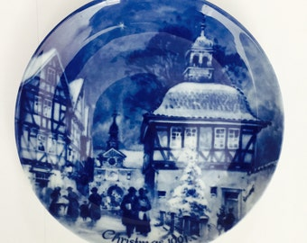 Christmas Eve 1991 Bad Sooden Allendorf The German Christmas Plate-Berlin Design by Berlin Design Wall Display Plate Plate Germany Chintz