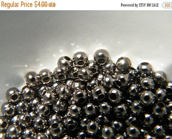 ON SALE 200 x Gunmetal Brass Spacer Beads Gunmetal Bead 3mm
