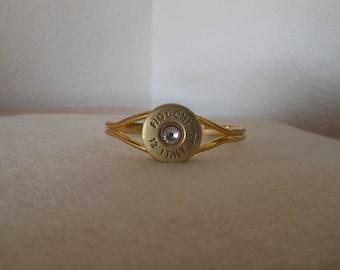Shotgun Shell Cuff Bracelet/Fiocchi Italy 12 gauge shotgun shell cuff bracelet/womens shotgun shell cuff bracelet with crystal