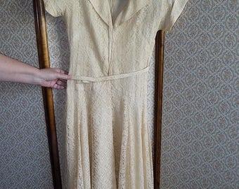 Vintage Lace 1950's Evening Dress