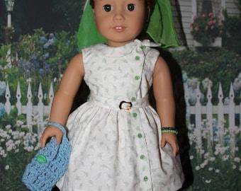 American Girl Maryellen 1950's Crisp and white , tiny rosebuds set