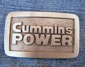 Vintage Cummins Power Belt Buckle Winters Associates Columbus IND