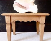 RESERVED   ON SALE for a week Frenc  Small Wood Bench - Wooden Stool - French Countryside Style - Wooden Bench - French Footstool