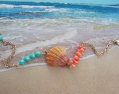 RESERVED FOR HEATHER!  Splash! Sunrise Shell Bracelet