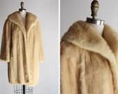 1950s Elsa Schiaparelli Blonde Mink Coat