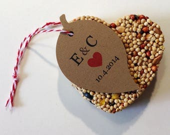 20 Bird Seed Favors - Wedding, Anniversary, Party Favors