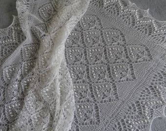 Christening shawl, heirloom blanket, lace baby blanket, baby shower gift, baby wrap READY TO SHIP