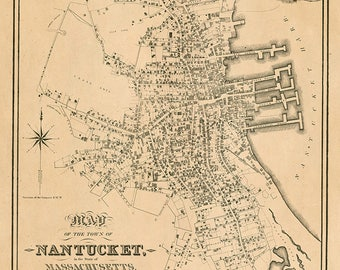 1834 Map of Nantucket