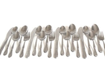 Picnic Silverware Superior Stainless USA Lightweight Flatware Set Service for 4