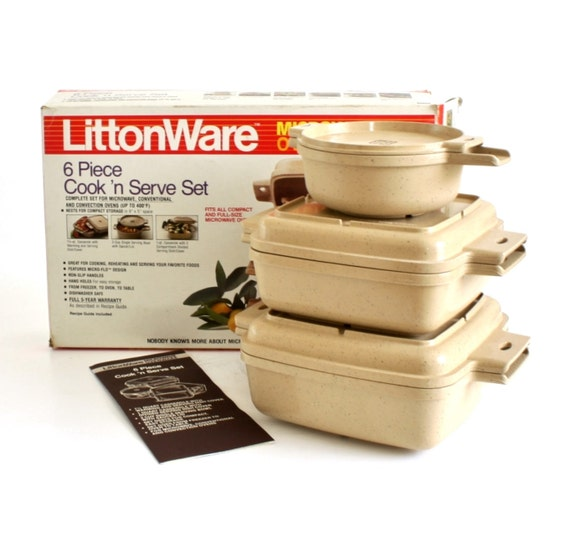 Litton Ware Microwave Cookware Casserole Dishes Amp Lids 1 1 5