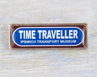 Time Traveller Badge - Ipswich Transport Museum Souvenir Lapel Pin