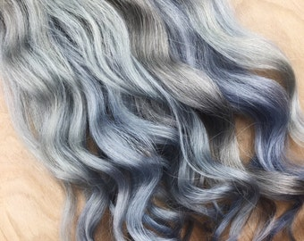 5 Star Seller, Black to Grey Ombre Hair Extensions, Silver Hair, Grey Hair Extensions, Gray Ombre Hair, human hair extensions, full set