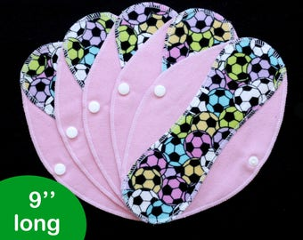 Pantyliners 9'' - Soccer - Washable - Reusable coth pads - Eco-friendly