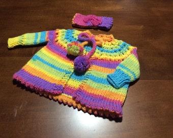 2 Piece Baby Sweater Set
