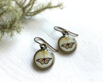 MONARCH EARRINGS / Monarch Butterfly Earrings / Change Transformation Beauty / Monarch Wings of Change