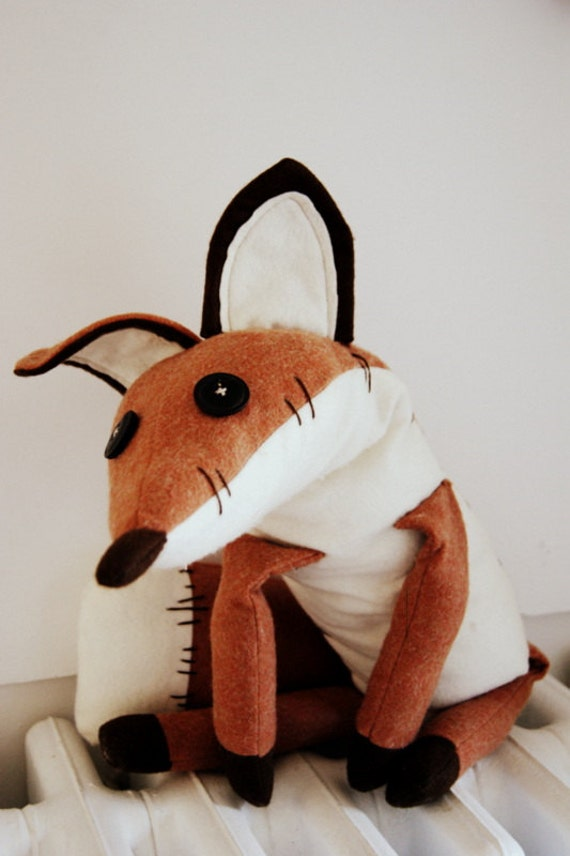 Pdf Sewing Pattern Fox Stuffed Animal Fox Plush Toy
