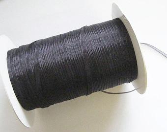 20 Mtrs Organza Ribbon - Black - 3mm Width