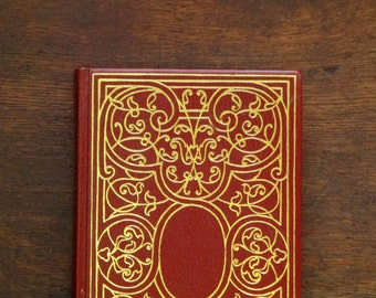 Oscar Wilde plays bound in faux red leather vintage book