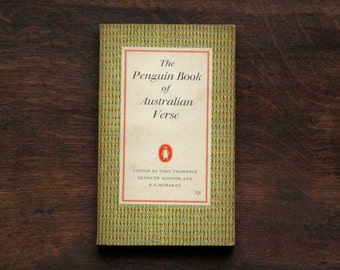 poetry book, The Penguin Book of Australian Verse from The Penguin Poets series -  vintage 1950s book