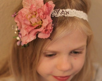 toddler floral headband,toddler accessories,little girl floral headband