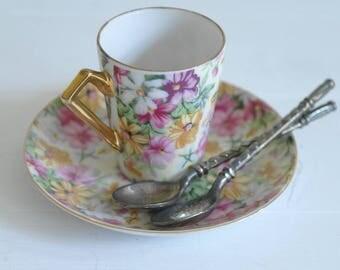 Silver Plate Teaspoons, Cute Teaspoons, Diamond Pattern, Spoons x 2