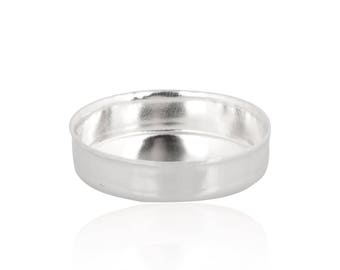 Sterling Silver Round Bezel Cup 7 mm Sold by unit