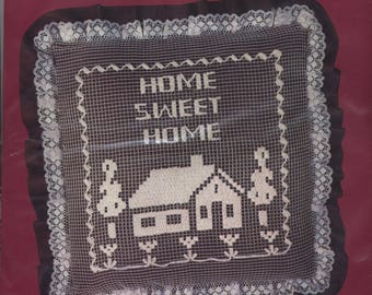 HOME SWEET HOME Net Darning Pillow Kit