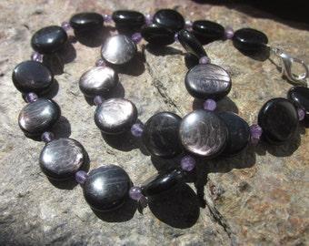 Amethyst Hypersthene Necklace: HopeProgress